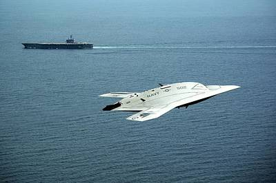 Stealth Photograph - X-47b Unmanned Combat Air Vehicle by Us Air Force