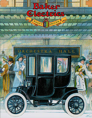 Photograph - Baker Electrics by Vintage Automobile Ads and Posters