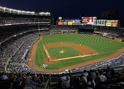 Yankee Stadium 3 Art Print by Allen Beatty
