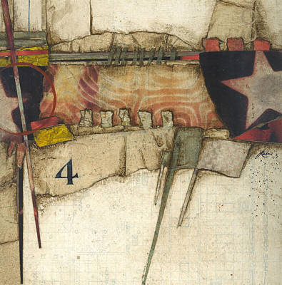 Abstract Collage Mixed Media - 4 You're The Third Star by Laura  Lein-Svencner