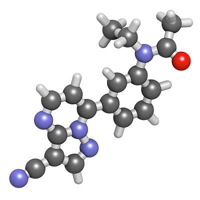 Zaleplon Hypnotic Drug Molecule Art Print by Molekuul