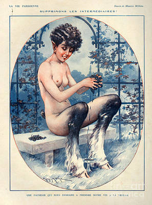 Grapes Drawing - 1920s France La Vie Parisienne by The Advertising Archives