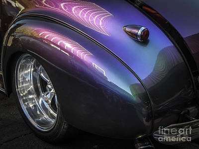 Tricked-out Cars Photograph - 40 Chevy Of Changing Colors by Chuck Re
