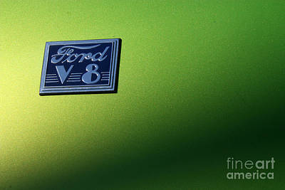 Stock Muscle Photograph - 40 Ford - V8 Logo-8565-1 by Gary Gingrich Galleries