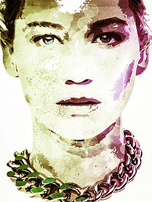 Digital Art - Jennifer Lawrence by Svelby Art
