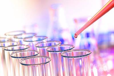 Caravaggio - Laboratory Test Tubes in Science Research Lab by Science Research Lab By Olivier Le Queinec