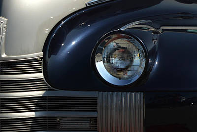 Photograph - 40 Olds Headlight by Bill Swartwout