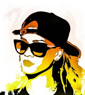 Rihanna Digital Art - Rihanna by Svelby Art