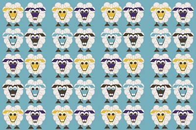 40 Sleep Sheep Art Print by Asbjorn Lonvig