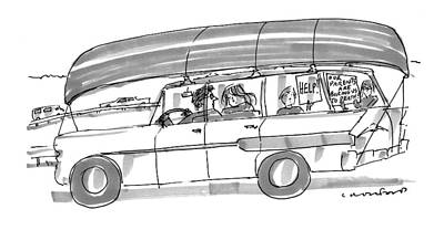 Family Car Drawing - Captionless by Michael Crawford