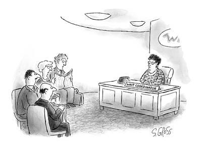 Drawing - New Yorker September 20th, 2004 by Sam Gross