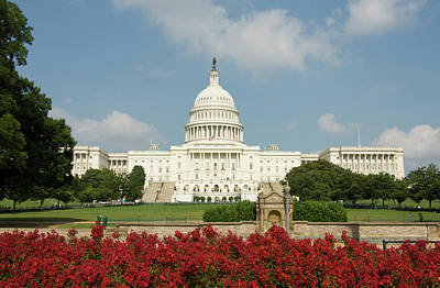 Capitol Building Wall Art - Photograph - Washington Dc, Usa by Lee Foster