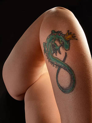 Photograph - 4048 King Lizard Tattoo by Chris Maher