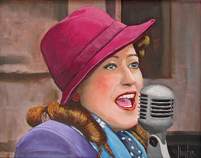 40s Painting - 40s Singer by Kevin Hughes
