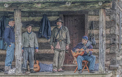 40th Anniversary Digital Art - 40th Pennsylvania In Camp Entertaining Prisoners by Randy Steele