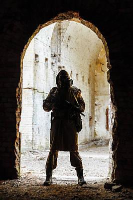 Photograph - Post-apocalypse Survivor In Tatters by Oleg Zabielin