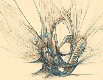 Action Lines Digital Art - Symmetrical Lines And Lights Figures by Odon Czintos