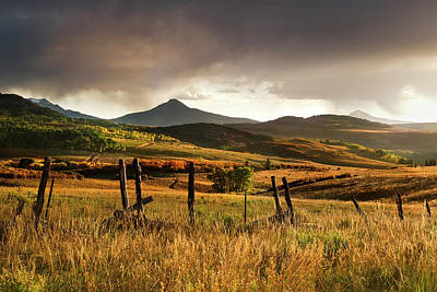 Barbed Wire Wall Art - Photograph - Usa, Colorado, San Juan Mountains by Jaynes Gallery