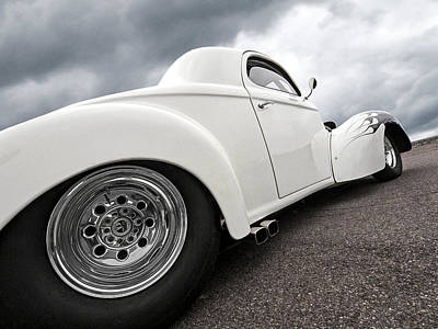 Custom Hot Rod Photograph - 41 Willys Coupe by Gill Billington