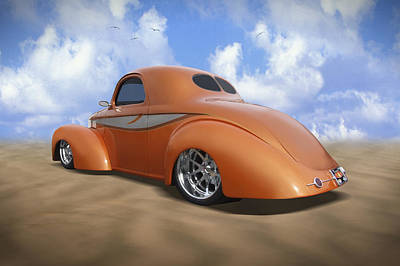 Street Rod Photograph - 41 Willys by Mike McGlothlen