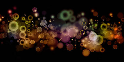 Nightlife Photograph - Abstract Background by Les Cunliffe