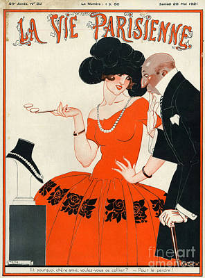 Rolling Stone Magazine Drawing - 1920s France La Vie Parisienne Magazine by The Advertising Archives