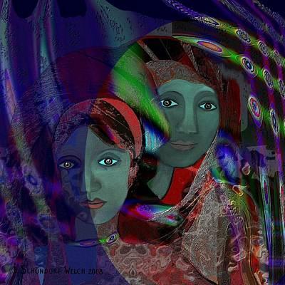 Inuu Digital Art - 418 - Two Women 2 by Irmgard Schoendorf Welch