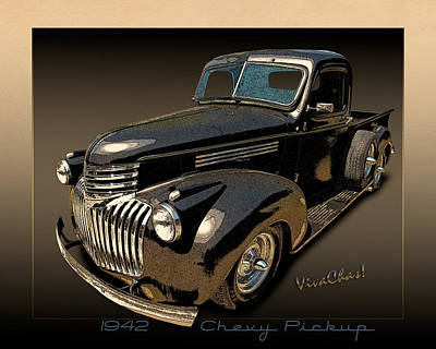 42 Chevy Pickup Rat Rod Art Print