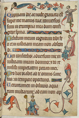 Luttrell Psalter Art Print by British Library