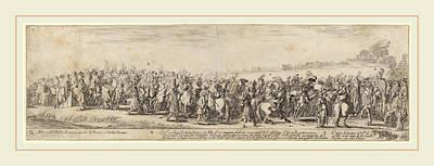 His Excellency Drawing - Stefano Della Bella Italian, 1610-1664 by Litz Collection