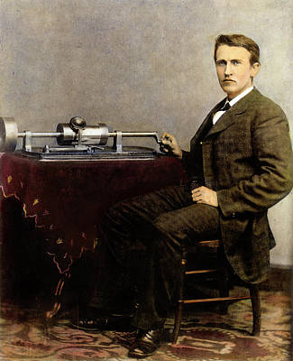 Photograph - Thomas Edison 1847-1931. For Licensing Requests Visit Granger.com by Granger