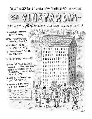 2005 Drawing - The Vineyardia by Roz Chast