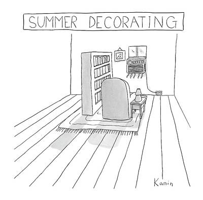 Zachary-kanin Drawing - Summer Decorating by Zachary Kanin
