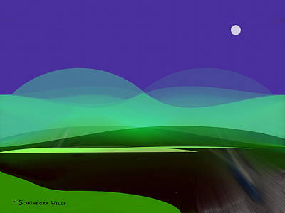 Welch Digital Art - 425 - In The Calm Of  Night by Irmgard Schoendorf Welch