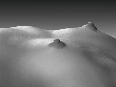 Photograph - 4269 Black White Nude Small Breasts Large Nipples  by Chris Maher