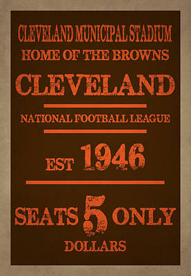Uniforms Photograph - Cleveland Browns by Joe Hamilton