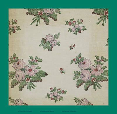 Person Drawing - French Fabrics First Half Of The Nineteenth Century 1800 by French School