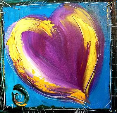 Harlow Painting - Heart by Mark Kazav