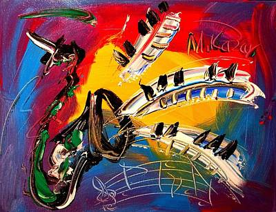 Harlow Painting - Jazz by Mark Kazav
