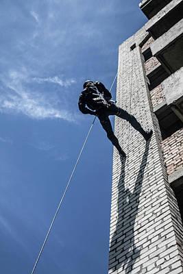 Photograph - Spec Ops Police Officer Swat by Oleg Zabielin