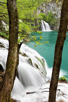 The Plitvice Lakes In The National Park Art Print