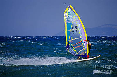 Surfer Photograph - Windsurfing by George Atsametakis