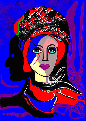 Painting - 431 - Fierce Lady by Irmgard Schoendorf Welch