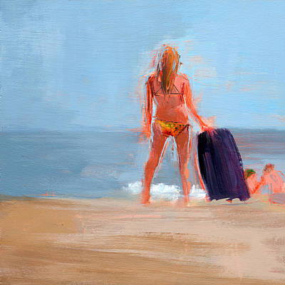 Surfing Art Painting - Rcnpaintings.com by Chris N Rohrbach