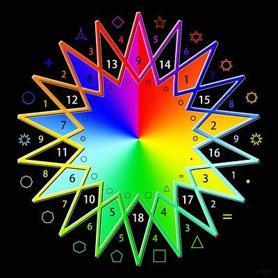 Digital Art - 432hz Rainbow Star by Derek Gedney