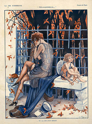 Maurice Milliere Drawing - 1920s France La Vie Parisienne by The Advertising Archives