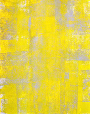Royalty-Free and Rights-Managed Images - Outlier - Grey and Yellow Abstract Art Painting by CarolLynn Tice