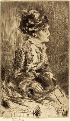 Drypoint Drawing - James Mcneill Whistler American, 1834 - 1903 by Quint Lox