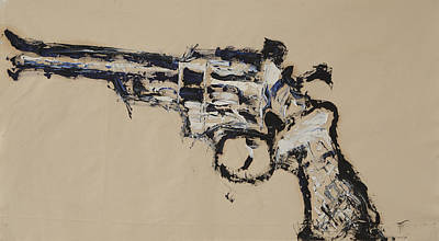 Dirty Harry Painting - .44 Magnum by Annette Schubert
