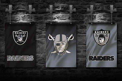 Oakland Raiders Art Print by Joe Hamilton